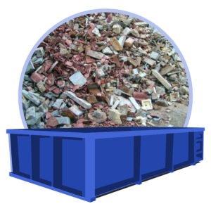 beton en steenpuin afval