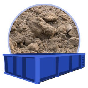 container voor grond afvall
